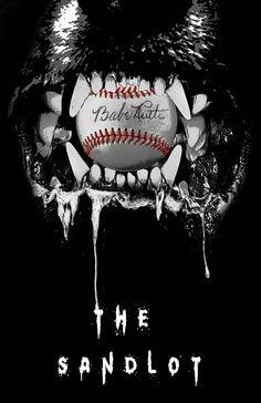 Brief Movie Poster Redo. The Sandlot, Family Genre to Horror (final) Sandlot Quotes, The Sandlot, Sandlot Costume, Baseball Art, Baseball Stuff, Childhood Movies, 90s Movies, No Crying In Baseball, Team Mom