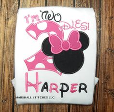 Character Mouse I'm Twodles Shirt/Mouse 2nd Birthday Shirt/ I'm Twodles