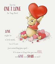 Amazon.com: Disney Winnie the Pooh Valentine's Day Large Greeting Card: Health & Personal Care