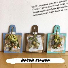 カッティングボード・オイルステインのドライフラワー スワッグ Dried Flowers, Paper Flowers, Flower Festival, Decoupage Art, Wooden Projects, How To Preserve Flowers, Nature Crafts, Diy Frame, Flower Frame