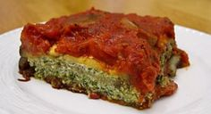 No Pasta Eggplant Lasagna. Awesome recipe if you have patience for the preperation of the Eggplant