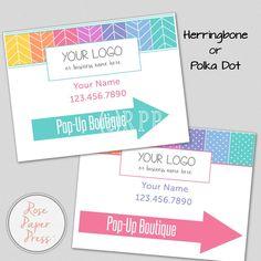 Yard Sign – Herringbone or Polka Dot   Custom Printable Sign   Lawn Sign, Banner by RosePaperPress on Etsy
