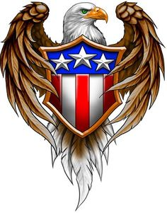 In America the eagle is an iconic symbol. The eagle inspires me to create a logo using a strong bird.