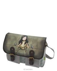Gorjuss Coated Satchel - On Top Of The World