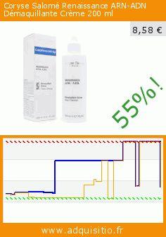Coryse Salomé Renaissance ARN-ADN Démaquillante Crème 200 ml (Beauté et hygiène). Réduction de 55%! Prix actuel 8,58 €, l'ancien prix était de 19,21 €. http://www.adquisitio.fr/coryse-salome/coryse-salom%C3%A9-renaissance-1
