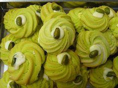 Biscotti di frolla montata al pistacchio