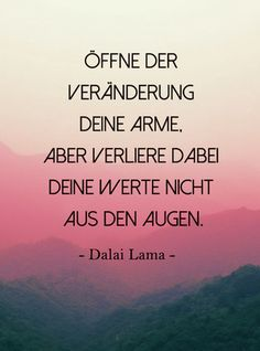 "Those who believe that religion is aloof and out of touch with the world have never read the quotes of the Dalai Lama. Because from whom a quote like this comes: ""If you believe . Advice from the Dalai Lama: The best quotes for every situation in Yoga Quotes, Poetry Quotes, True Quotes, Best Quotes, German Quotes, Out Of Touch, Believe, True Words, Positive Thoughts"