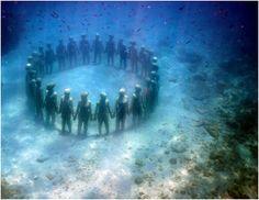 esculturas submarinas de Jason de Caires.