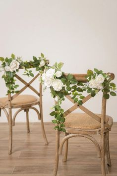 Wedding Chair Flower Decoration (Set of - Blue/Ivory – Ling's moment Wedding Aisles, Wedding Bouquets, Wedding Isle Flowers, Backyard Wedding Dresses, Wedding Backdrops, Wedding Ceremonies, Ceremony Backdrop, Chaise Floral, Floral Chair