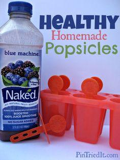 Healthy Homemade Popsicles - PinTriedIt.com