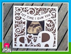 Ultrasound Papercut Photo Frame Elephant SVG / DXF Cutting file for Cricut…