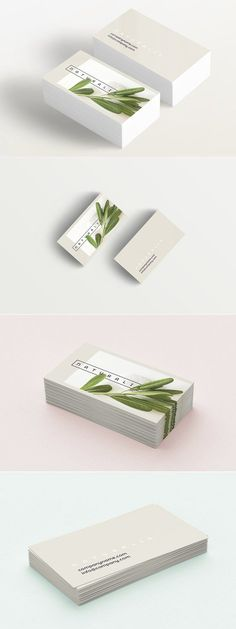 Natural Greens business card  by Polar Vectors on @creativemarket