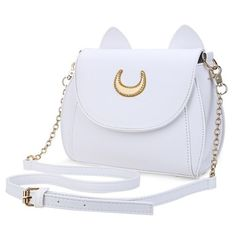 Moon Ladies Handbag Luna Cat Shape Chain Shoulder PU Leather Bag ($19) ❤ liked on Polyvore featuring bags, handbags, shoulder bags, cat handbags, chain shoulder bag, handbag purse, man bag and chain strap handbags
