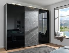 Built In Wardrobes Sliding Doors Prices Sliding Mirror Wardrobe Doors, Three Door Wardrobe, Sliding Door Wardrobe Designs, Bedroom Wardrobe, Built In Wardrobe, Pine Wardrobe, Triple Wardrobe, Sliding Closet Doors, Wardrobe Storage