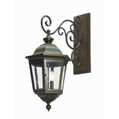 2nd Ave Design Cassandra 2 Light Outdoor Wall Lantern Finish: Gilded Tobacco, Shade Type: Silver Mica