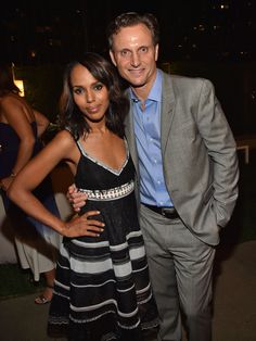 Tony Goldwyn and Kerry Washington at MPTF's Evening Before Party