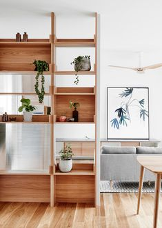 Bookcases Bookcase Wall Divider Bookshelf Wall Bookcase Wall Divider Bookcase W. Living Room Bookcase, Wall Bookshelves, Inspiration Design, Living Room Inspiration, Taupe Kitchen Cabinets, Room Divider Walls, Wall Dividers, Accent Wall Bedroom, Accent Walls