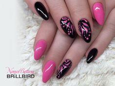 Pink Black Nails, Purple Nail Art, Purple Nail Designs, Gel Nail Designs, Pink Nails, Winter Nails, Summer Nails, Cute Nails, Pretty Nails