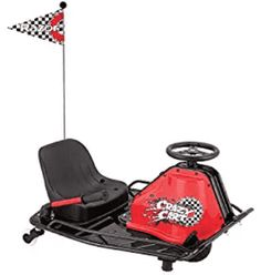 Razor® Crazy Cart Ride-On Electric Cart Black/Medium Red - Motorized Wheel Goods at Academy Sports Sports Games For Kids, Sports Toys, Go Kart, Razor Dune Buggy, Ride On Toys, Electric Power, Electric Scooter, Outdoor Toys, Color Negra