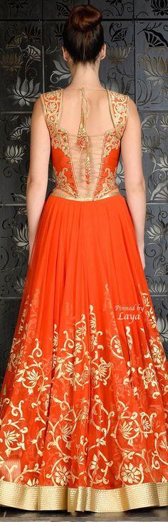 Beautiful Orange/Gold Dress