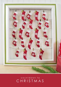 Silhouette-stocking-advent-calendar using Free Shape Of The Week