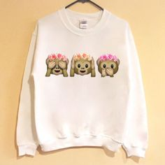 Flower Crown Monkey Emoji Shirt/Sweatshirt