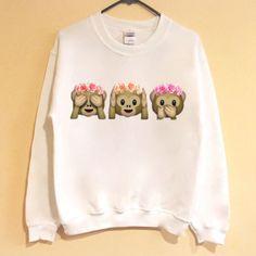 Flower Crown Monkey Emoji Shirt/Sweatshirt