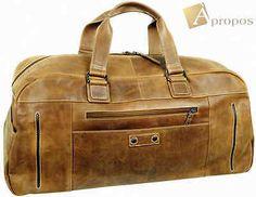 """""""Vintage Look"""" Reisetasche 60cm Sporttasche Weekender Leder Braun Apropos"""