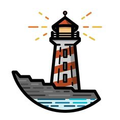#repost from @gfmakes -  29/366 - Lighthouse  #vector #icon #icondesign #366daysoficons #iconaday #dribbble #picame #illustree #graphicdesign #graphicdesigncentral #thedesigntip #bestvector #thicklines #adobe #vectorproject  #graphicdesigner #freelance #adobeillustrator #graphicgang #illustrator #illustration #dailychallenge #light #house #lighthouse #ocean #sea #coast #water by designarf