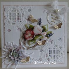 Anniversary Verses, Diy And Crafts, Paper Crafts, Bday Cards, Die Cut Cards, Marianne Design, New Pins, Shabby, I Card