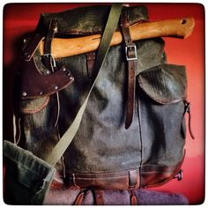Swiss Army Vintage WWII Mountain Rucksack - canvas & leather - Not for sale... this is a WWII Swiss Army vintage pack in canvas & leather from our own collection of refurbished gear - no plans to add it to the line up yet - an amazing pack, we call it the 'Grandfather' of Swiss army packs...this is one that deserves to have a rest rather than be put back into the field - break out the pipe and slippers and rest by the fireside, with a few stories to tell from up in the Alps no doubt...