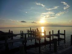 sunset pamlico sound, jetty -Roxanne Slimak