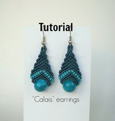 ***INCLUDED with this purchase you will receive a FREE tutorial for a pair of knotted earrings*** This is a pair of simply beautiful and light