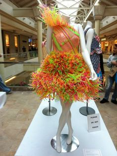 Designer: Hillary Roberts Material: Straws | Massachusetts College of Art and Design's Wearable Art 2011 Exhibition
