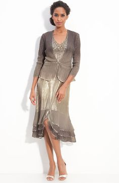 MOB dress in petite at Nordstrom; various shades of gray.