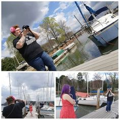 Such a great photoshoot this morning!! Location and model were amazing!   #knoxville #knoxvegasphotos #tennessee #photographer #photography #outside #outdoors #spring #springtime #warmweather #sunshine #collage #photoshoot #sailboat #dock #bts #purplehair #redhead #undercut #sundayfunday #sunday #lovethis #lovemyjob #ilovemyjob #canon by ms.knoxvegas