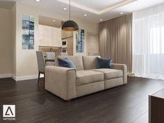 Дизайн проект - ЖК Новорижский Flat House Design, Sofa, Couch, Ceilings, Living Rooms, Furniture, Places, Home Decor, Living Room