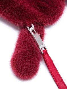RICK OWENS - BAGS - Rick Owens Mink Fur, Rick Owens, Calf Leather, Calves, Teeth, Long Hair Styles, Bags, Color, Handbags