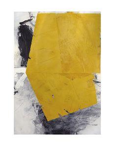 """IVO STOYANOV  """"YELLOW #22"""" ; Mixed Media on Canvas ; 68''X 48''"""