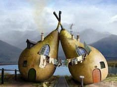 A pear of houses lol