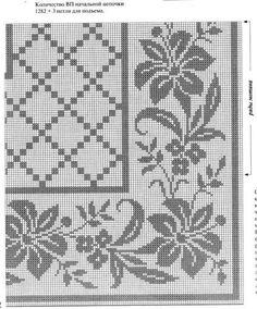 Kira scheme crochet: Scheme crochet no. Cross Stitch Borders, Cross Stitch Baby, Cross Stitch Designs, Cross Stitching, Cross Stitch Patterns, Filet Crochet, Crochet Cactus, Thread Crochet, Crochet Flower