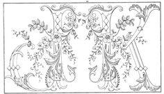Shawkl: Ornate Vintage Alphabet Motif - J,K