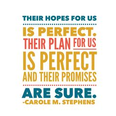 Trust the plan. #ldsconf