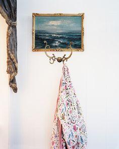 Bathroom - Framed artwork hung above a hook - January February 2013 Issue,  Kay O'Toole
