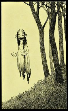 don kenn gallery: January 2010 Creepy Drawings, Creepy Art, Art Drawings, Scary, Art And Illustration, Illustrations, Vampire Illustration, Monster Drawing, Monster Art