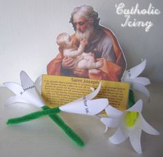 ~ Such a beautiful 1900 year old novena to St. Joseph for kids to acquaint with, plus, involving a craft of lilies, one for each day of the novena, as a prayer to St. Place on a particular made altar to St. Joseph with the kids! St Joseph Novena, St Joseph Feast Day, Saint Joseph, Catholic Crafts, Catholic Kids, Catholic School, Joseph Activities, Joseph Crafts, St Josephs Day