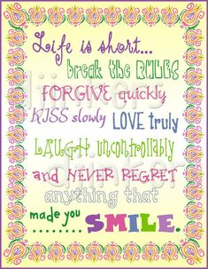 life quote, cute fonts, fun fonts, cool fonts, life is short Fun Fonts, Cool Fonts, Cute Quotes, Happy Quotes, Smile Quotes, Dj Inkers, Cute Borders, Hand Drawn Fonts, Thing 1