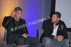 Tim Tebow and Brendan Schaub attend the 2014 CES as ambassadors for SOUL Electronics at the Las Vegas Convention Center on January 8, 2014 in Las Vegas, Nevada.