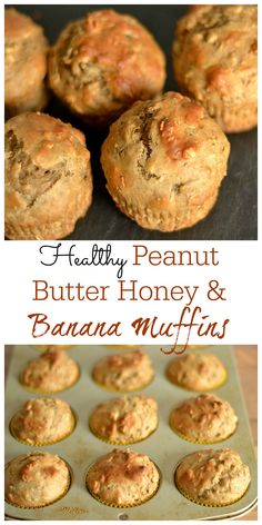 peanut butter honey banana muffins