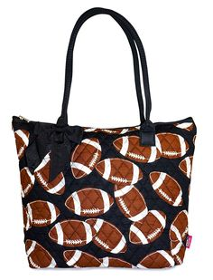 Quilted Football Tote Bag - 16-Inch >>> You can get additional details at the image link. (This is an Amazon Affiliate link and I receive a commission for the sales)
